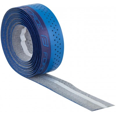 Omotávka FORCE PU s vytláčeným logem, modrá