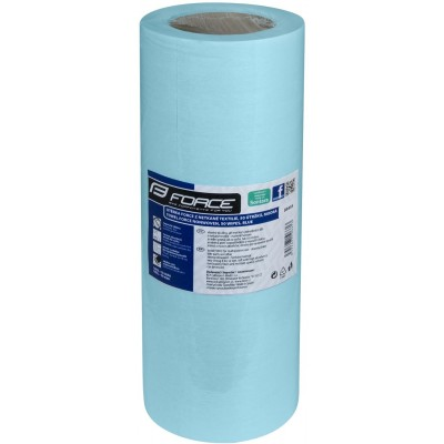 Utěrka FORCE z netkané textilie, 50 útržků, modrá