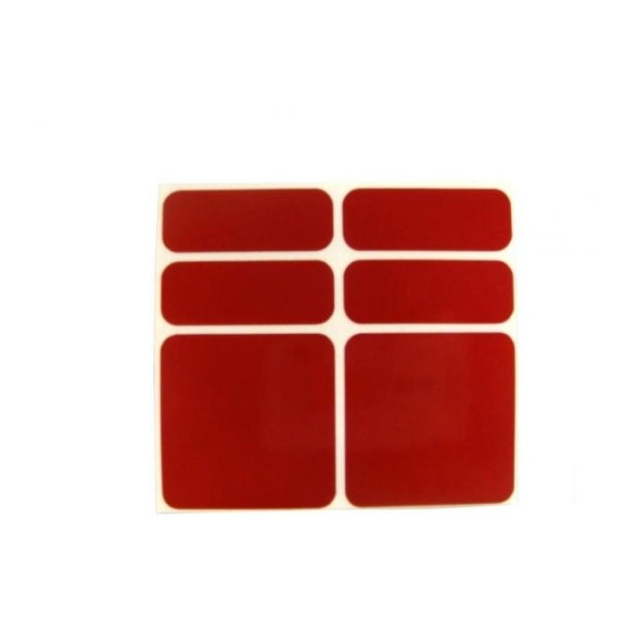 samolepky reflexní ShamanRacing set 6ks červené