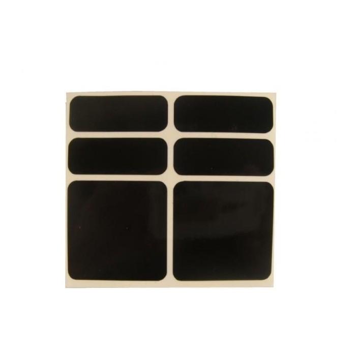 samolepky reflexní ShamanRacing set 6ks černé