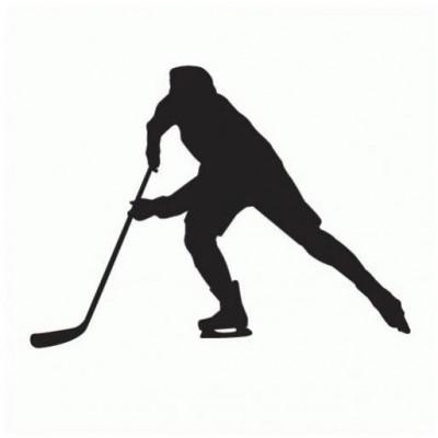 samolepka Tempish silueta hokejista