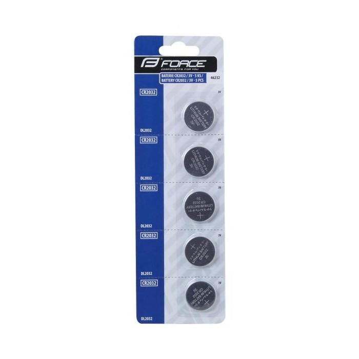 baterie CC+pulsmetrů FORCE CR2032 5ks