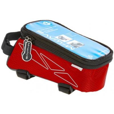 brašna M-WAVE přední na mobil L červená