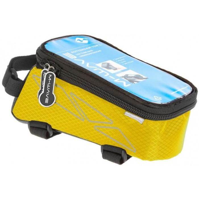 brašna M-WAVE přední na mobil L žlutá