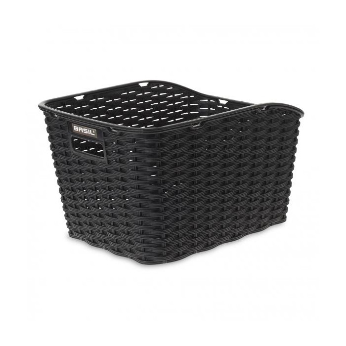 koš BASIL Weave WP nosičový rattan syntetický černý