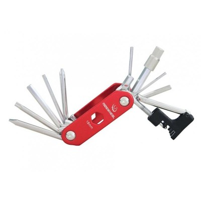 klíče multi HAVEN - zavírací červená s nýtovačem