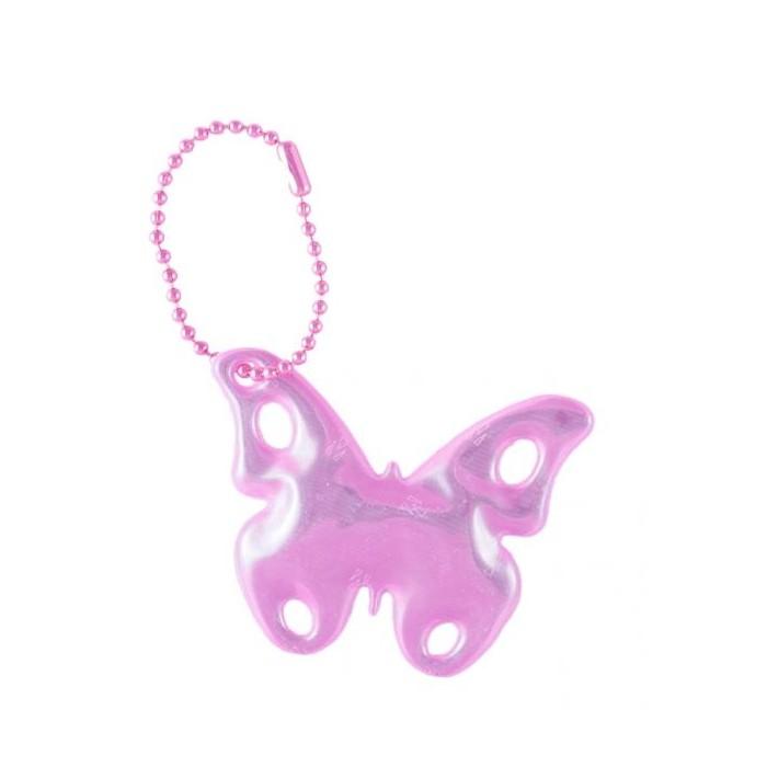 přívěšek reflexní motýl růžový