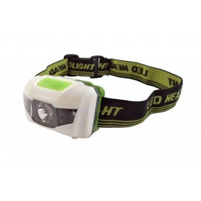 čelovka 4RACE LH01 1*0,5W bílo-zelená
