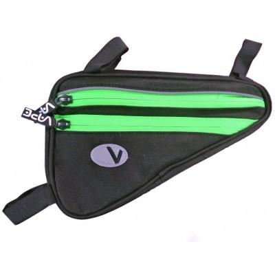 brašna Vape rámová 4 kapsy neon zelený zip