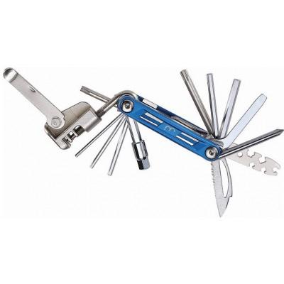 klíč imbusový BBB PrimeFold XL 18 funkční modrý
