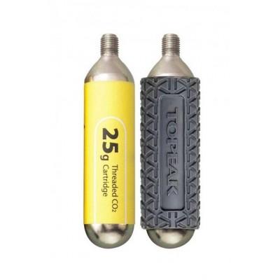 bombička hustilky TOPEAK CO2 25G - 2ks s rukávkem