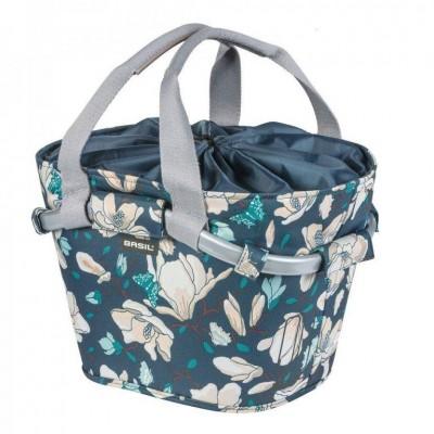 brašna BASIL Carry All front Magnolia na řidítka modrá