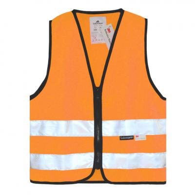 vesta reflexní na zip dětská - oranžová