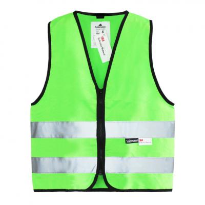 vesta reflexní na zip dětská - zelená