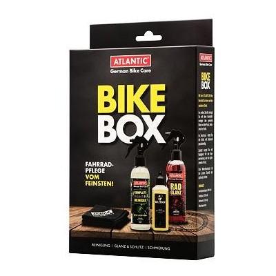 sada Atlantic Bike čistič 200ml, lesk 200ml, olej 100ml, utěrka
