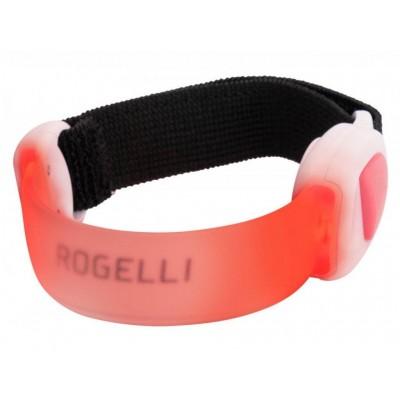 páska bezpečnostní Rogelli  LED ARMBAND červená