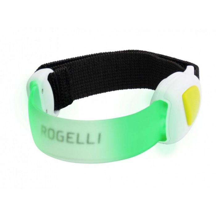 páska bezpečnostní Rogelli  LED ARMBAND zelená