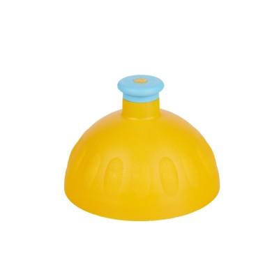 Zdravá lahev -Víčko tmavě žluté/zátka modrá