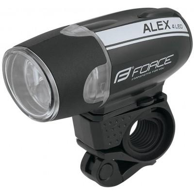Světlo přední FORCE ALEX 4 diody+baterie