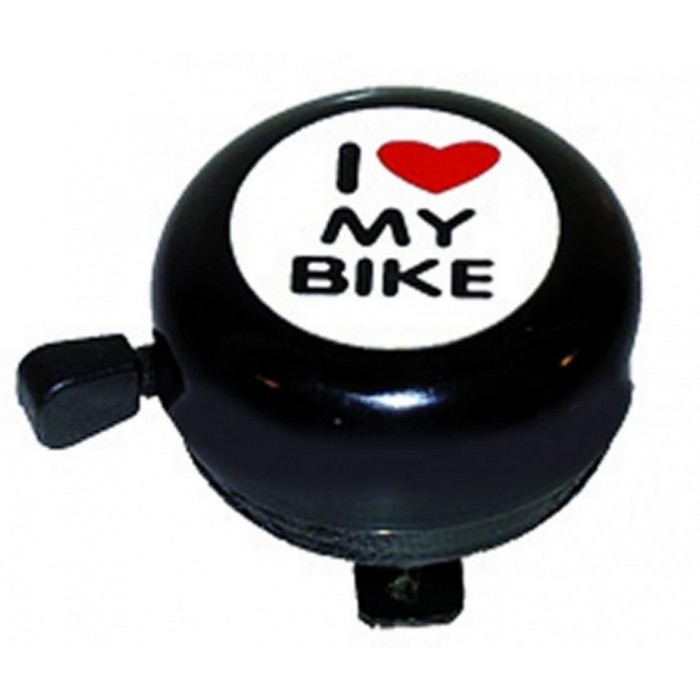 zvonek M-Wave I love my bike - černý