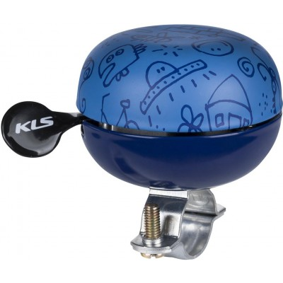 KELLYS Cyklistický Zvonek Bell 60 Doodles modrý