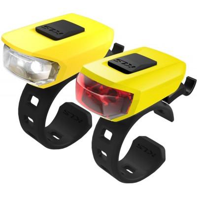 KELLYS Osvětlení set KLS VEGA USB, yellow